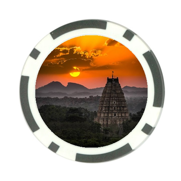 Beautiful Village Of Hampi Poker Chip Card Guard (10 pack)