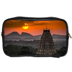 Beautiful Village Of Hampi Toiletries Bags 2 Side