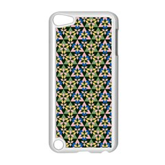 Snowflake Crystal Shapes 3 Apple Ipod Touch 5 Case (white) by Cveti