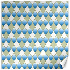 Squama Fish Blue Pattern Canvas 16  X 16   by Cveti