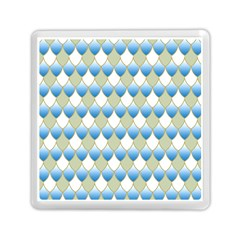 Squama Fish Blue Pattern Memory Card Reader (square)  by Cveti