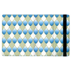 Squama Fish Blue Pattern Apple Ipad 3/4 Flip Case