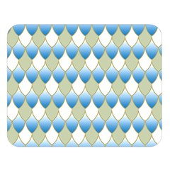 Squama Fish Blue Pattern Double Sided Flano Blanket (large)  by Cveti
