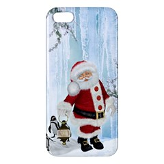 Santa Claus With Funny Penguin Apple Iphone 5 Premium Hardshell Case by FantasyWorld7