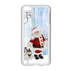 Santa Claus With Funny Penguin Apple Ipod Touch 5 Case (white) by FantasyWorld7