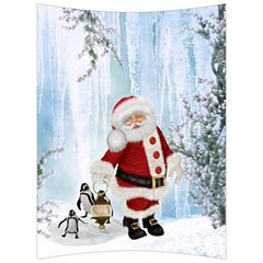 Santa Claus With Funny Penguin Back Support Cushion by FantasyWorld7