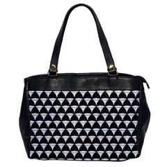 Diamond Pattern Black White Office Handbags by Cveti