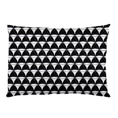 Diamond Pattern Black White Pillow Case (two Sides) by Cveti