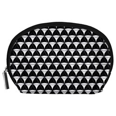 Diamond Pattern Black White Accessory Pouches (large)  by Cveti