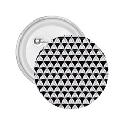 Diamond Pattern White Black 2 25  Buttons by Cveti
