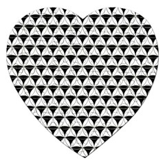 Diamond Pattern White Black Jigsaw Puzzle (heart) by Cveti