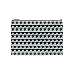 Diamond Pattern White Black Cosmetic Bag (medium)  by Cveti