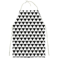 Diamond Pattern White Black Full Print Aprons by Cveti