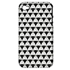 Diamond Pattern White Black Apple Iphone 4/4s Hardshell Case (pc+silicone) by Cveti