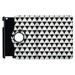 Diamond Pattern White Black Apple Ipad 3/4 Flip 360 Case by Cveti
