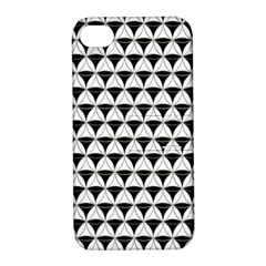 Diamond Pattern White Black Apple Iphone 4/4s Hardshell Case With Stand by Cveti