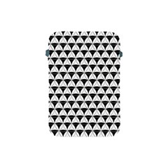 Diamond Pattern White Black Apple Ipad Mini Protective Soft Cases by Cveti