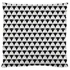 Diamond Pattern White Black Large Flano Cushion Case (two Sides) by Cveti