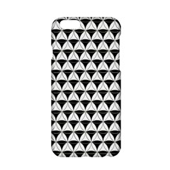 Diamond Pattern White Black Apple Iphone 6/6s Hardshell Case by Cveti
