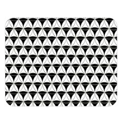 Diamond Pattern White Black Double Sided Flano Blanket (large)  by Cveti