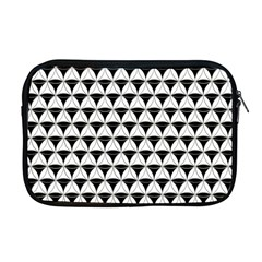 Diamond Pattern White Black Apple Macbook Pro 17  Zipper Case by Cveti