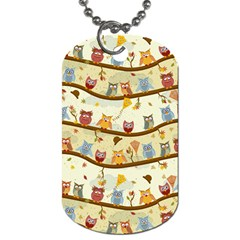 Autumn Owls Pattern Dog Tag (two Sides)