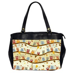 Autumn Owls Pattern Office Handbags (2 Sides)  by Celenk