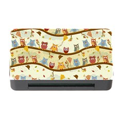 Autumn Owls Pattern Memory Card Reader With Cf by Celenk