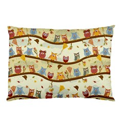 Autumn Owls Pattern Pillow Case (two Sides)