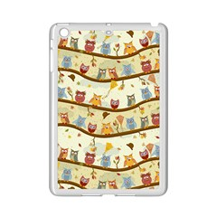 Autumn Owls Pattern Ipad Mini 2 Enamel Coated Cases by Celenk