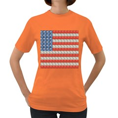 Geometricus Usa Flag Women s Dark T Shirt by Celenk