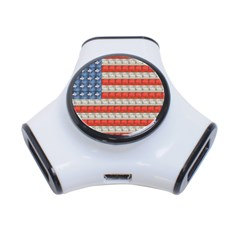 Geometricus Usa Flag 3 Port Usb Hub by Celenk