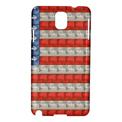 Geometricus Usa Flag Samsung Galaxy Note 3 N9005 Hardshell Case by Celenk