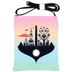 Future City Shoulder Sling Bags by Celenk