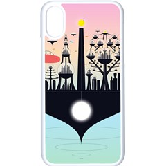 Future City Apple Iphone X Seamless Case (white)