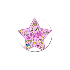 Pink Angel Star Golf Ball Marker (10 Pack) by Celenk