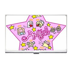Pink Angel Star Business Card Holders