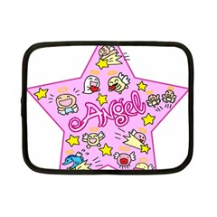 Pink Angel Star Netbook Case (small)  by Celenk