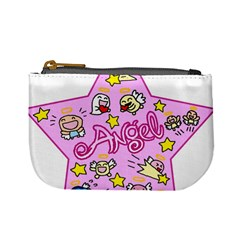 Pink Angel Star Mini Coin Purses by Celenk