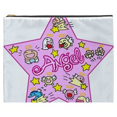 Pink Angel Star Cosmetic Bag (xxxl)  by Celenk
