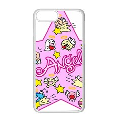 Pink Angel Star Apple Iphone 8 Plus Seamless Case (white)