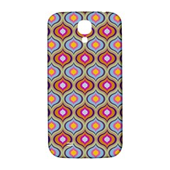 Blue Leaves Eyes Pattern Samsung Galaxy S4 I9500/i9505  Hardshell Back Case by Cveti