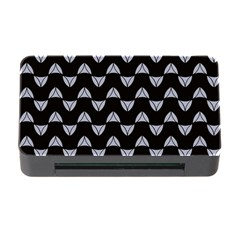 Wave Pattern Black Grey Memory Card Reader With Cf by Cveti