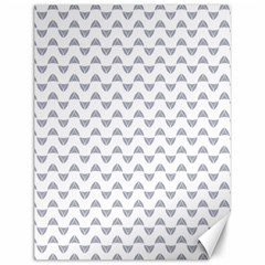 Wave Pattern White Grey Canvas 12  X 16   by Cveti