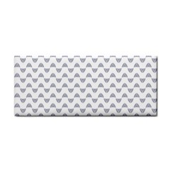 Wave Pattern White Grey Cosmetic Storage Cases by Cveti