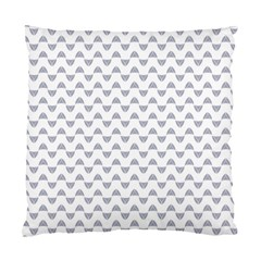 Wave Pattern White Grey Standard Cushion Case (two Sides) by Cveti