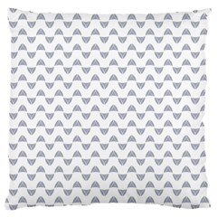 Wave Pattern White Grey Large Cushion Case (one Side) by Cveti