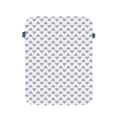 Wave Pattern White Grey Apple Ipad 2/3/4 Protective Soft Cases by Cveti
