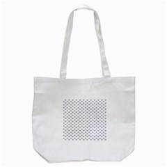 Wave Pattern White Grey Tote Bag (white) by Cveti