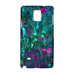Melted Fractal 1c Samsung Galaxy Note 4 Hardshell Case by MoreColorsinLife
